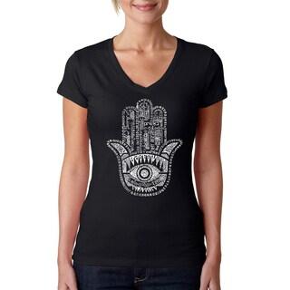 Women's Hamsa V-neck T-shirt