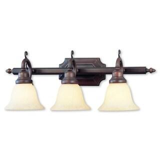 Livex Lighting French Regency Imperial Bronze 3-light Bath Light