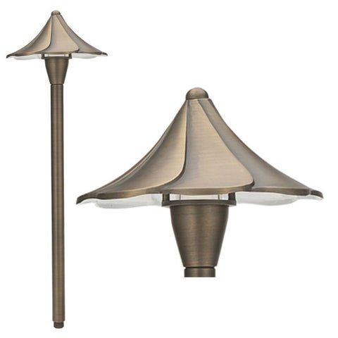 Best Quality Lighting 1-Light Antique Bronze Path Light - Brown