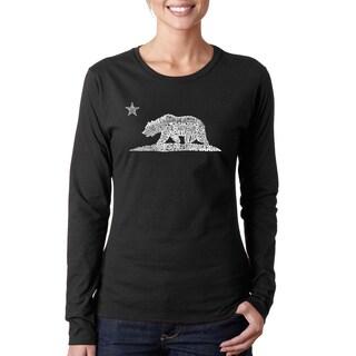 Women's California Bear Long-sleeved T-shirt