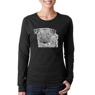 Women's Pug Face Long-sleeve T-shirt