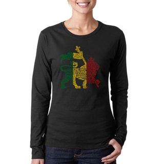 Women's One Love Rasta Lion Long Sleeve T-shirt
