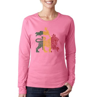 Women's One Love Rasta Lion Long Sleeve T-shirt