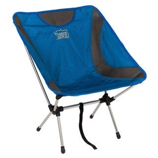 TimberRidge Blue Aluminum Ultra Lightweight Frame Folding Chair for Outdoors and Camping