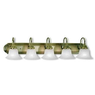 Livex Lighting Belmont Antique Brass 5-light Bath Light