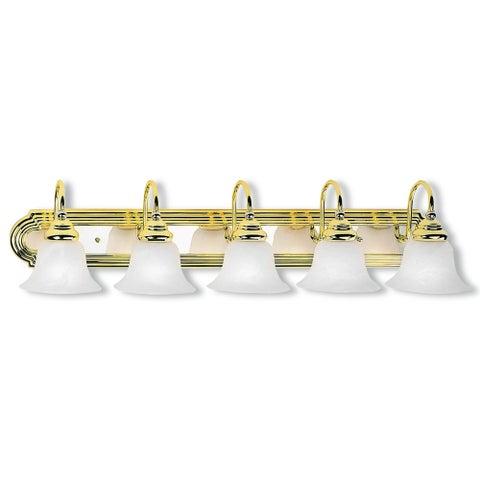Livex Lighting Belmont Polished Brass/Chrome 5-light Bath Light