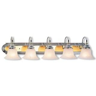 Livex Lighting Belmont Polished Chrome and Polished Brass 5-light Bath Light