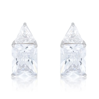 Sterling Silver Cubic Zirconia Stud Earrings