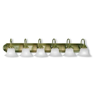 Livex Lighting Belmont Gold Steel 6-light Vanity Bathroom Light