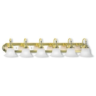 Livex Lighting Belmont 6-light Polished Brass and Polished Chrome Bath Light