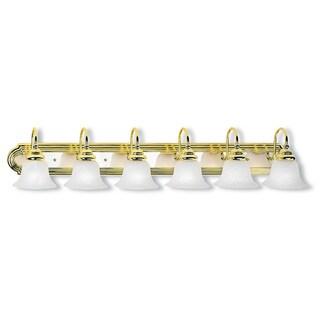 Livex Lighting Belmont 6-light Polished Brass and Polished Chrome Bath Light