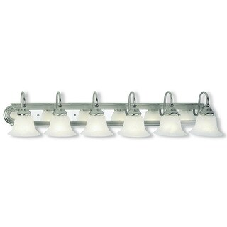 Livex Lighting Belmont Brushed Nickel and Polished Chrome 6-light Bath Light