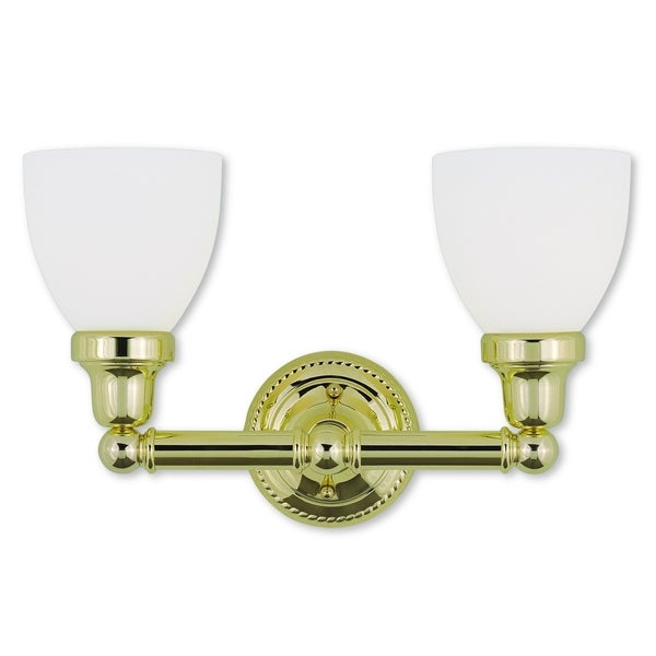 polished brass bathroom lighting shop livex lighting classic polished brass 2 light bath 20012