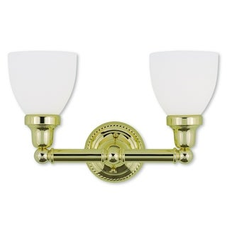 Livex Lighting Classic Polished Brass 2-Light Bath Light