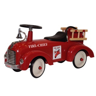 Chevron Texaco Red Stainless Steel Toy Fire Truck