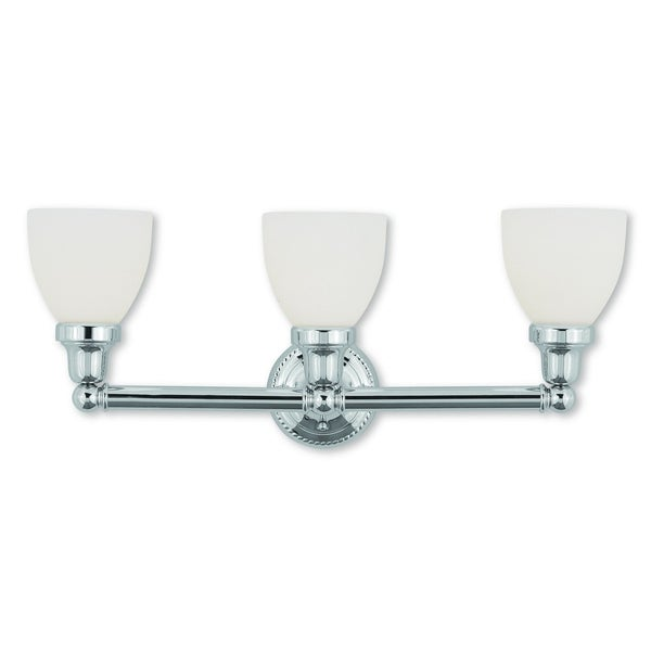 Livex Lighting Classic Polished Chrome 3-light Bath Light