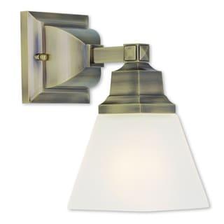 Livex Lighting Mission 1-light Antique Brass Bath Fixture