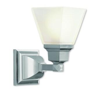 Livex Lighting Mission Brushed Nickel Steel 1-light Bath Light