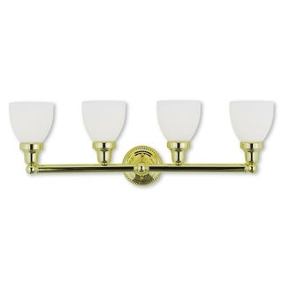 Livex Lighting Classic Polished Brass 4-light Bath Light