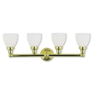 Livex Lighting Classic Polished Brass 4-light Bath Light