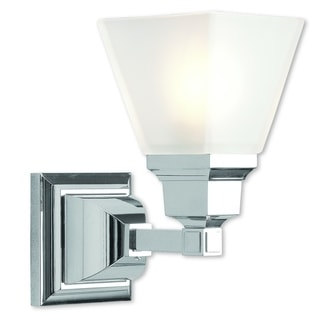 Livex Lighting Mission Silver Steel 1-light Sconce