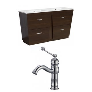 48-in. W x 18.5-in. D Plywood-Melamine Vanity Set In Wenge With Single Hole CUPC Faucet