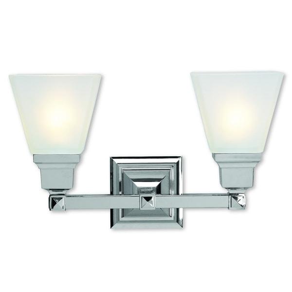 Shop Livex Lighting 2 Light Mission Chrome Bathroom Vanity Light At Lowes Com