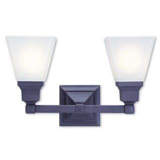 Livex Lighting Mission Bronze 2-light Bath Light