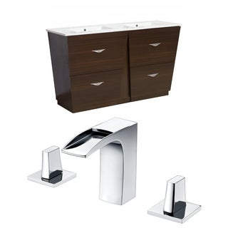 48-in. W x 18.5-in. D Plywood-Melamine Vanity Set In Wenge With 8-in. o.c. CUPC Faucet