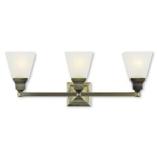 Livex Lighting Mission Antique Brass 3-light Bath Light