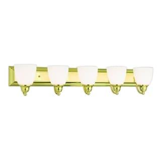 Livex Lighting Springfield Polished Brass 5-light Bath Light