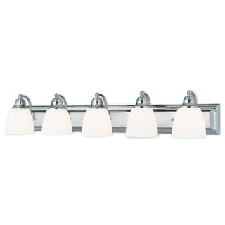 Livex Lighting Springfield Polished Chrome 5-light Bath Light