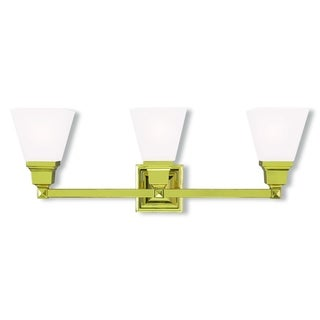 Livex Lighting Mission Polished Brass 3-light Bath Light