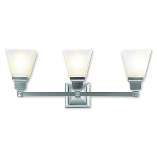 Livex Lighting Mission Brushed Nickel 3-light Bath Light