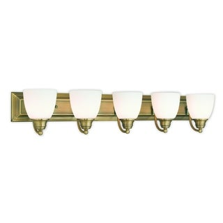 Livex Lighting Springfield Antique Brass 5-light Bath Light