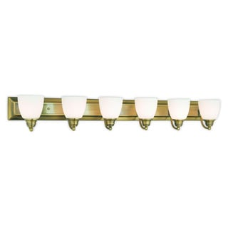 Livex Lighting Springfield 6-light Antique Brass Bath Light