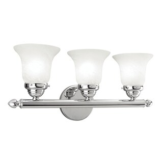 Livex Lighting Neptune Polished Chrome 3-light Bath Light