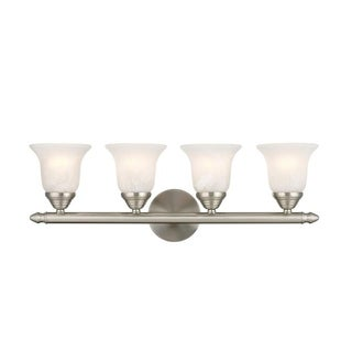 Livex Lighting Neptune Brushed Nickel 4-light Bath Light