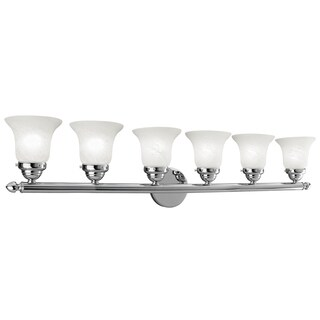 Livex Lighting Neptune Polished Chrome Steel/Alabaster Glass 6-light Bath Light