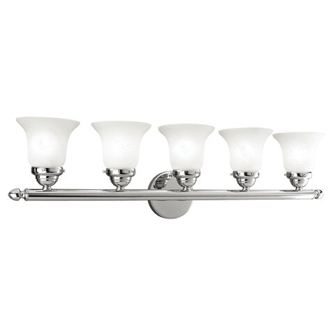 Livex Lighting Neptune Polished Chrome 5-light Bath Light