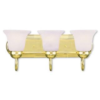 Livex Lighting Riviera Polished Brass 3-light Bath Light