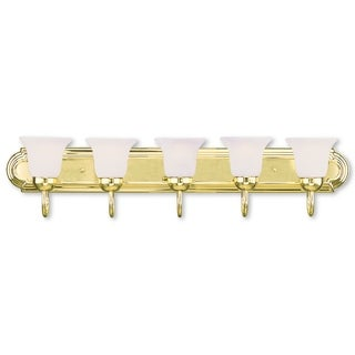 Livex Lighting Riviera Polished Brass 5-light Bath Fixture