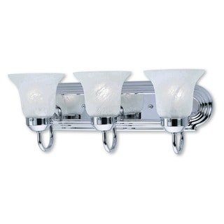 Livex Lighting Riviera Polished Chrome 3-light Bath Light