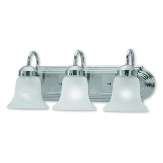 Livex Lighting Riviera Brushed Nickel 3-light Bath Light