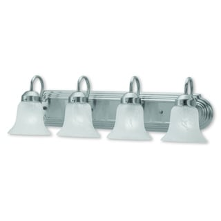 Livex Lighting Riviera Brushed-nickel 4-light Bath Light