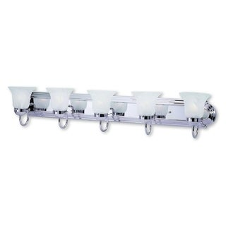 Livex Lighting Riviera Polished Chrome Steel 5-light Bath Light