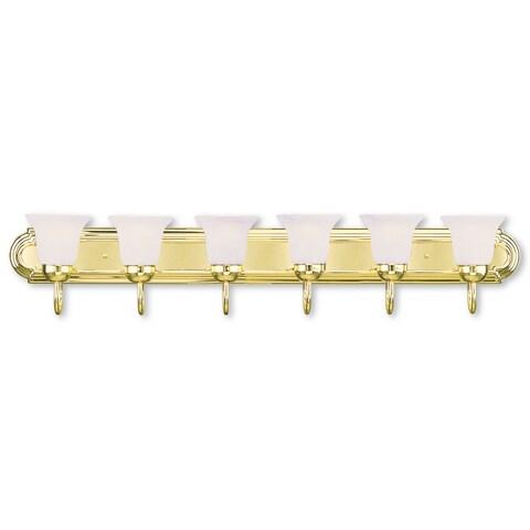 Livex Lighting Riviera Polished Brass 6-light Bath Fixture
