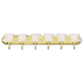 Livex Lighting Riviera Polished Brass 6-light Bath Fixture