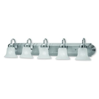Livex Lighting Riviera Brushed Nickel 5-light Bath Light
