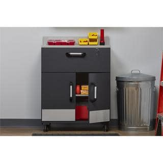 Altra SystemBuild Boss Charcoal Stipple 2 Door and 1 Drawer Base Cabinet